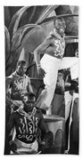 African American Musical Scene Beach Towel