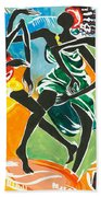 African Dancers No. 3 Beach Towel
