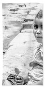 African Girl Remastered Beach Towel