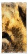 African Lion Eyes Beach Towel