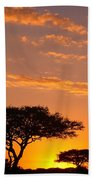 African Sunset Beach Towel