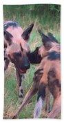 African Wild Dogs Beach Towel