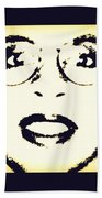Afro Woman Beach Towel