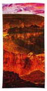 Afterglow Grand Canyon National Park Beach Towel
