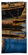 Afternoon Friendship  Reflection Beach Towel