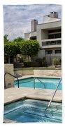 Afternoon Swim Palm Springs Beach Towel by William Dey