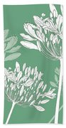 Agapanthus Breeze Beach Towel