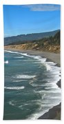 Agate Beach At Patricks Point Beach Towel by Adam Jewell