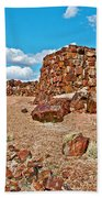 Agate House In Petrified Forest National Park-arizona  Beach Towel