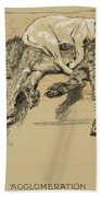 Agglomeration Beach Towel by Cecil Charles Windsor Aldin