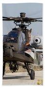 Ah-64d Apache Longbow Of The Royal Beach Towel