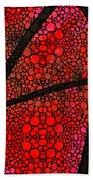 Ah - Red Stone Rock'd Art By Sharon Cummings Beach Towel