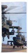 Ah64d Apache Longbow Helicopters  Beach Towel