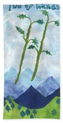 Airy Two Of Wands Beach Towel