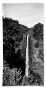 Akaka Falls - Bw Beach Towel