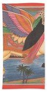 Al Buraq Dul Dul Horse Prophet Muhammad Painting Handmade Islamic Paper Painting Folk Art Beach Towel