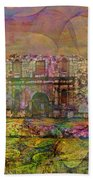 Alamo After The Fall - Square Version Beach Towel
