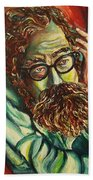 Alan Ginsberg Poet Philosopher Beach Towel