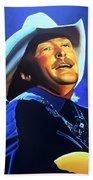 Alan Jackson Painting Beach Towel