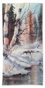 Alaska Birch II Beach Towel
