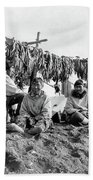 Alaska Drying Fish, C1900 Beach Towel