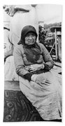 Alaska Eskimo Woman Beach Towel