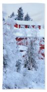Alaskaland Train Station I Beach Towel