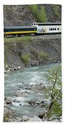 Alaskan Railroad Beach Towel