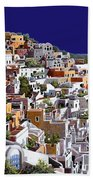 alba a Santorini Beach Towel by Guido Borelli