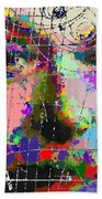 Albert Einstein - Atomic Particles  Beach Towel
