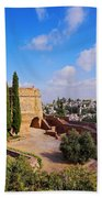 Alcazaba In Granada Beach Towel