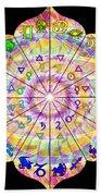 Alchemical Lotus Zodiac Beach Towel