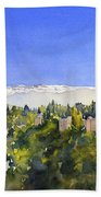 Alhambra Granada Beach Towel