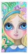 Alice In Pastel Land Beach Towel