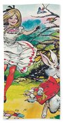 Alice In Wonderland Beach Towel by Jesus Blasco
