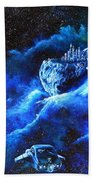 Alien Asteroid Mine Beach Towel
