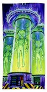 Alien Experiment Beach Towel by Steve Read