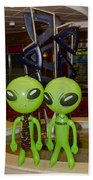 Aliens And Whatamacallit Beach Towel