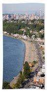 Alki Beach And Downtown Seattle Beach Towel