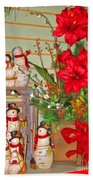 All Good Wishes For Christmas Beach Towel