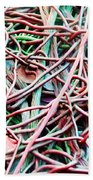 All Tied Up Abstract Art Beach Towel