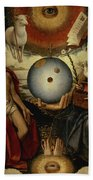 Allegory Of Christianity Oil On Panel Beach Towel