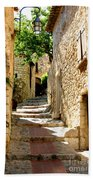 Alley In Eze, France Beach Towel
