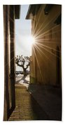 Alley With Sunbeam Beach Towel