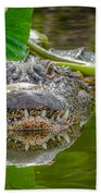 Alligator 2 Beach Towel