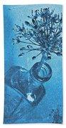 Allium Cyanotype Beach Towel