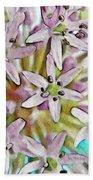Allium Globe Beach Towel