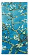 Almond Blossom Branches Print Beach Towel