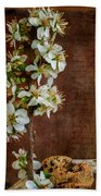 Almond Blossom Beach Towel by Marco Oliveira