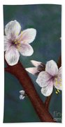 Almond Blossoms Beach Towel
